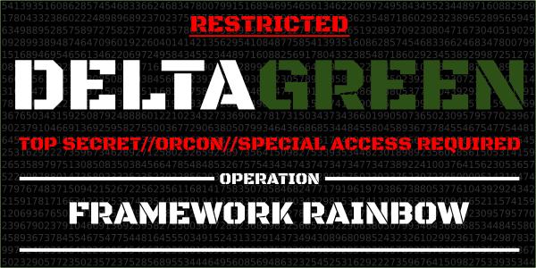 DeltaGreen Framework Rainbow