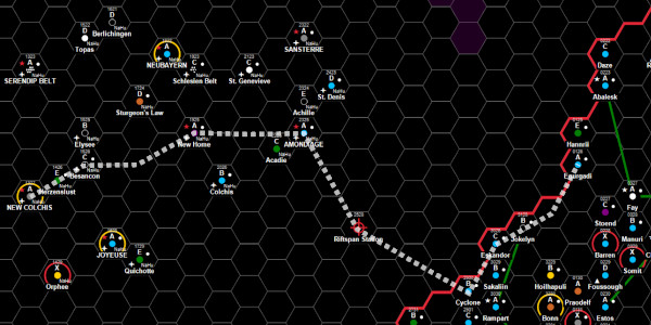 Route from New Colchis to the Imperium